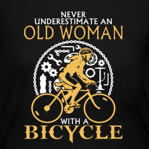 Old Woman With A Bicycle - Women's Long Sleeve Jersey T-Shirt