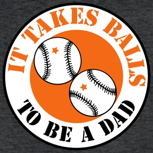 it takes balls to be a dad (BASEBALL) T-Shirts - Fitted Cotton/Poly T-Shirt by Next Level