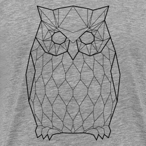 Black Owl - Animal Prism - Men's Premium T-Shirt