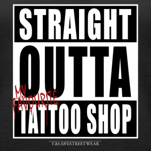 straightoutta tattoo shop Tanks - Women's Premium Tank Top