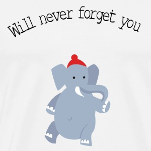 cute elephant forget T-Shirts - Men's Premium T-Shirt