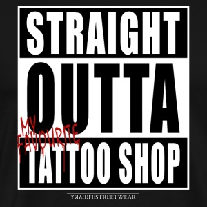 straightoutta tattoo shop T-Shirts - Men's Premium T-Shirt