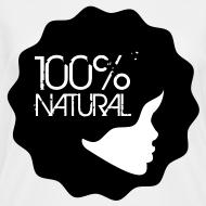 Design ~ 100% Natural Afro T-Shirt Women'sV-Neck T-Shirt