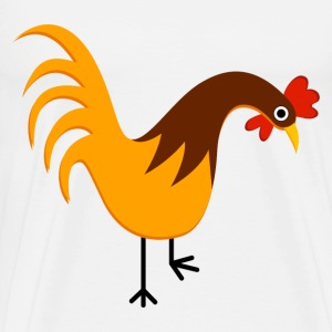 Rooster Cartoon - Men's Premium T-Shirt