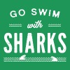 Go swim with sharks - Men's Premium T-Shirt