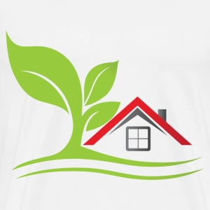 real estate house with tree - Men's Premium T-Shirt