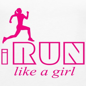 I run like a girl Tanks - Women's Premium Tank Top