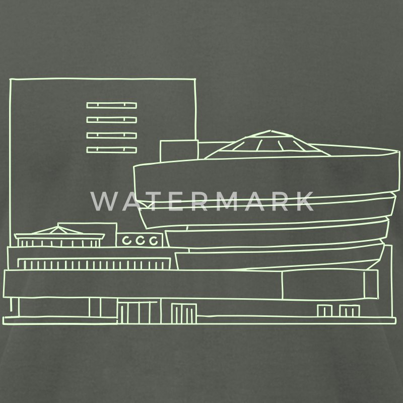 Guggenheim Museum New York - Men's T-Shirt by American Apparel