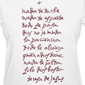 Solo Dios basta (Let nothing disturb thee) Women's T-Shirts - Women's T-Shirt
