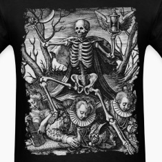 DEATH AND ROYAL TWINS B&W OCCULT T-SHIRT