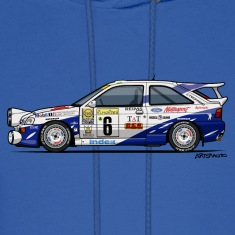 Ford Escort RS Cosworth Rally Monte Carlo Hoodies