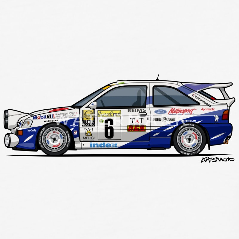 Ford Escort RS Cosworth Rally Monte Carlo T-Shirts - Baseball T-Shirt