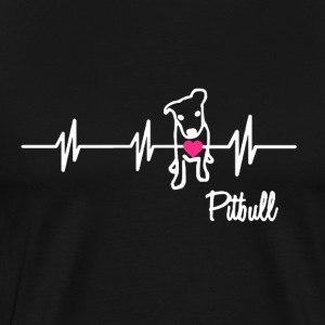 Pitbull Heartbeat - Men's Premium T-Shirt