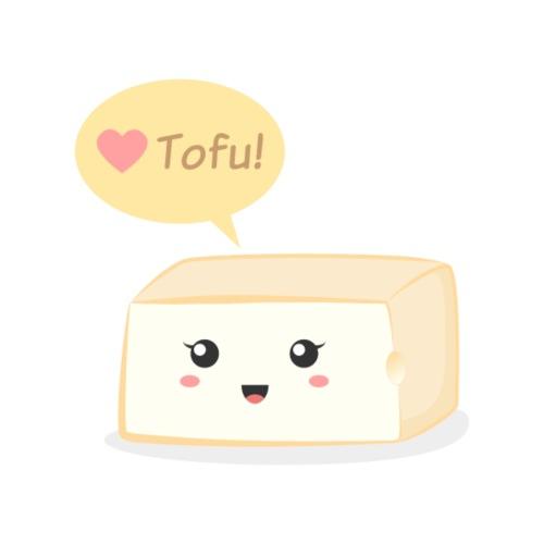 love tofu, cute food doodle