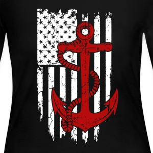 Navy Flag Shirt - Women's Long Sleeve Jersey T-Shirt