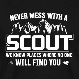 Never Mess With A Scout - Men's Premium T-Shirt