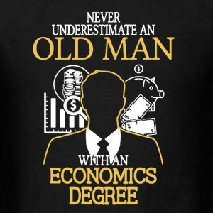 Old Man Economics Degree - Men's T-Shirt