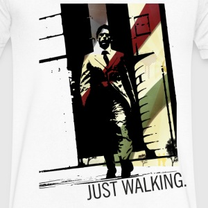 Just Walking | Keep Walking - Men's V-Neck T-Shirt by Canvas