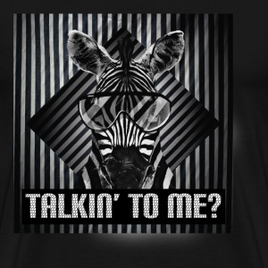 Zebra | Talkin' to me - Men's Premium T-Shirt