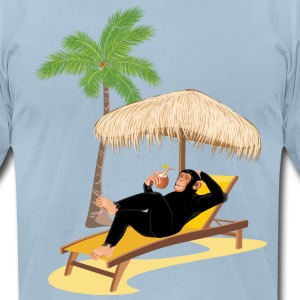 Monkey at the beach. Summertime! - Men's T-Shirt by American Apparel