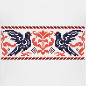 Couple cross-stitch Pigeons Kids' Shirts - Kids' Premium T-Shirt