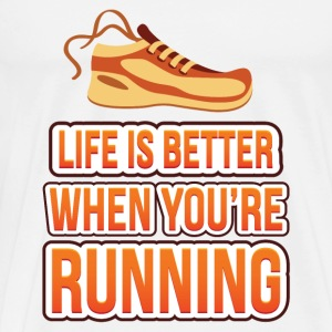 Life is better running T-Shirts - Men's Premium T-Shirt