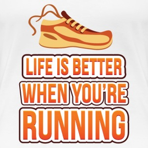 Life is better running Women's T-Shirts - Women's Premium T-Shirt