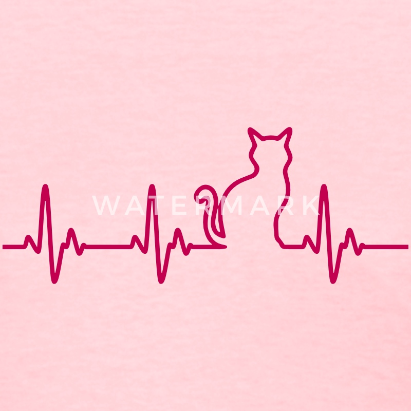 Cat HeartBeat Women's T-Shirts - Women's T-Shirt