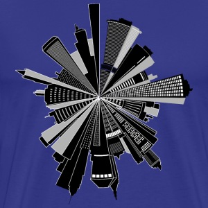 Cityscape Skyline Radial - Men's Premium T-Shirt