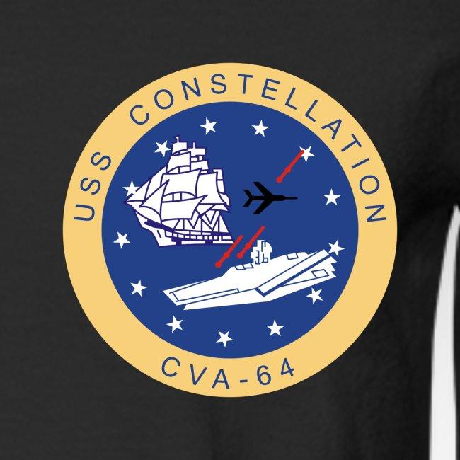 USS CONSTELLATION CVA-64 COMBAT CRUISE 1971-72 CRUISE SHIRT - LONG SLEEVE