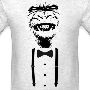 Gorilla with a bow tie (2) - Men's T-Shirt