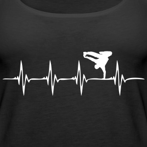 Heartbeat Breakdance - Women's Premium Tank Top