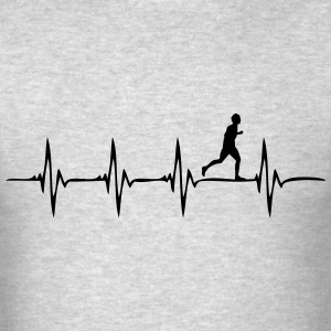 Heartbeat Running - Men's T-Shirt