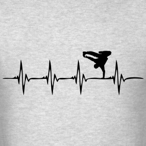 Heartbeat Breakdance - Men's T-Shirt