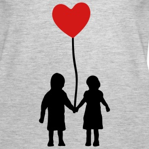 Kids and heart balloon Tanks - Women's Premium Tank Top