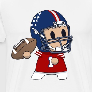 Funny quarterback illustration print t-shirt - Men's Premium T-Shirt