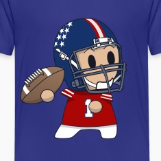 quarterback toon print t-shirt for kids