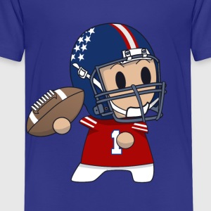 Toddler quarterback art print  - Toddler Premium T-Shirt