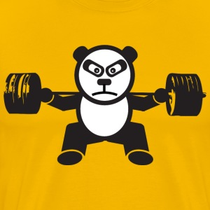 Weightlifting Panda Bear (Squat) T-Shirts - Men's Premium T-Shirt