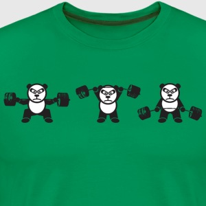 Weightlifting Panda Bear (Squat, Press, Deadlift) T-Shirts - Men's Premium T-Shirt