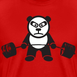 Weightlifting Panda Bear (Deadlift) T-Shirts - Men's Premium T-Shirt
