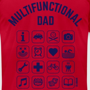 Multifunctional Dad (16 Icons) T-Shirts - Men's T-Shirt by American Apparel