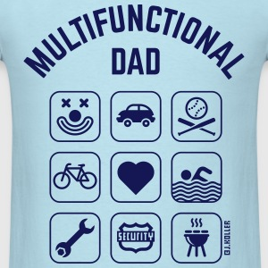 Multifunctional Dad (9 Icons) T-Shirts - Men's T-Shirt