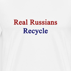 real_russians_recycle T-Shirts - Men's Premium T-Shirt