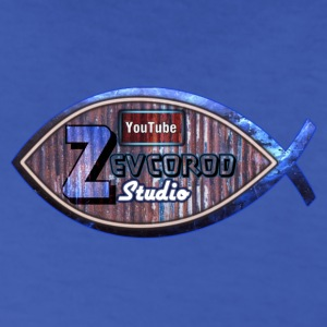 Zevcorod Studio Logo blue Youtube - Men's T-Shirt
