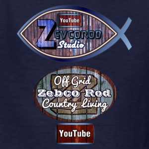 Kids Rustic Logo for YouTuber:Zebco Rod & Zevcorod - Kids' T-Shirt