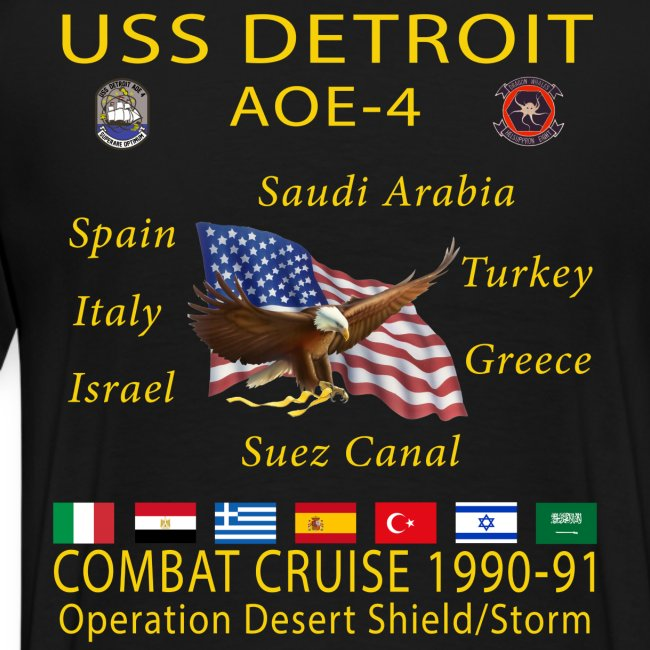 USS DETROIT AOE-4 1990-91 CRUISE SHIRT