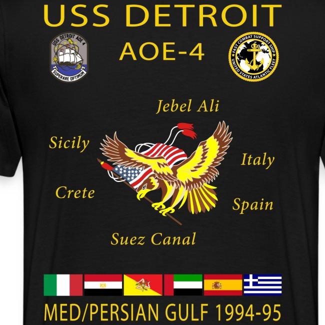 USS DETROIT AOE-4 1994-95 CRUISE SHIRT