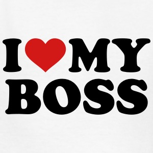 I love my boss Kids' Shirts - Kids' T-Shirt