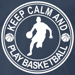 Keep Calm And Play Basketball Seal T-Shirts - Men's Premium T-Shirt